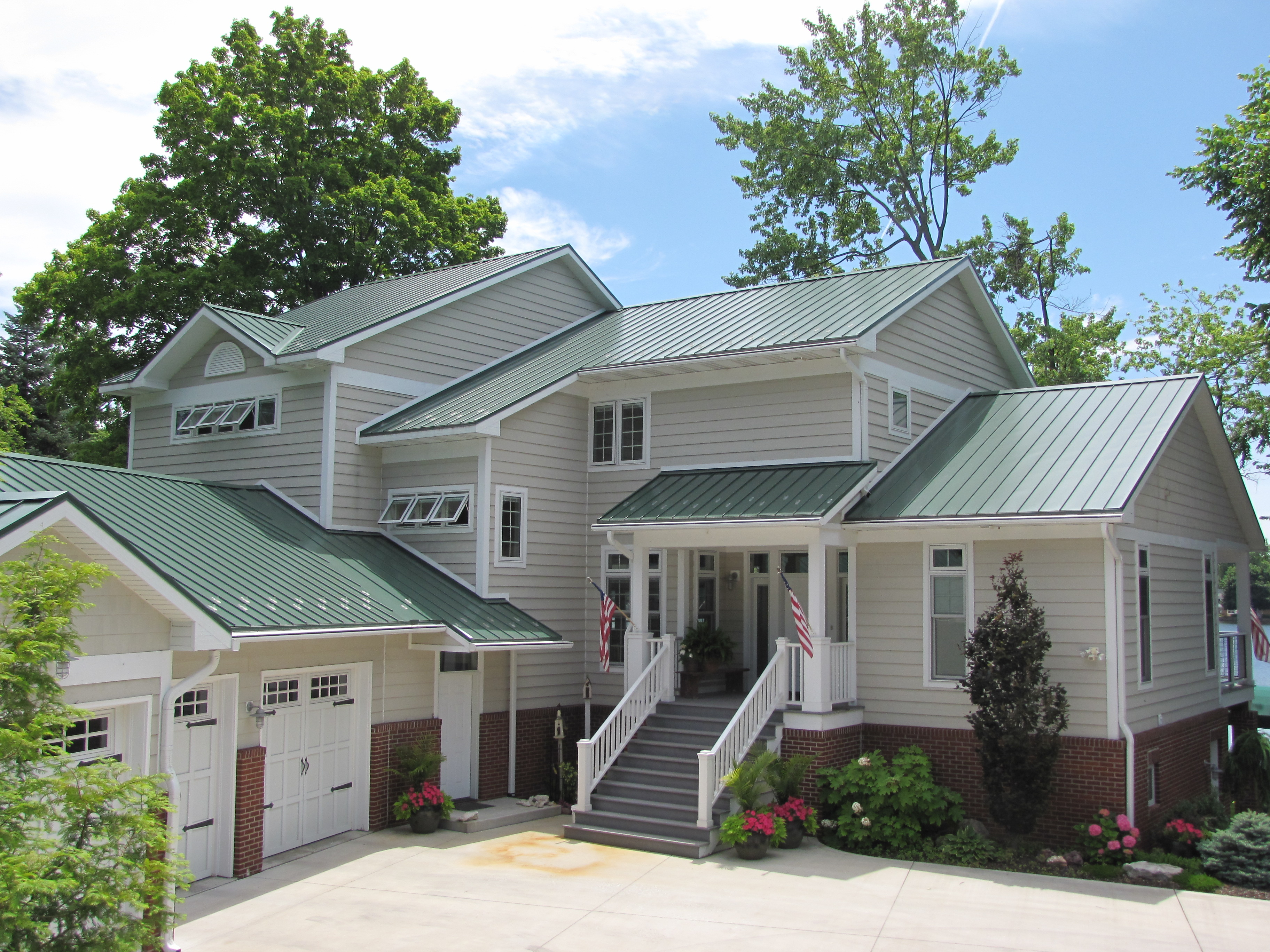 Classic green home coated metals group for Classic house green street