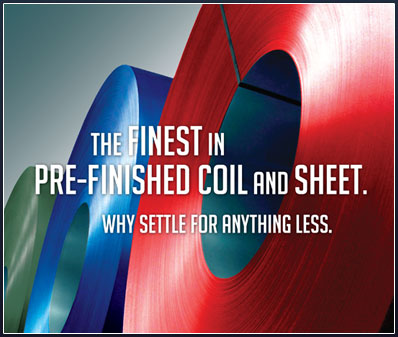 The best in pre-finished steel coil and flat sheet.