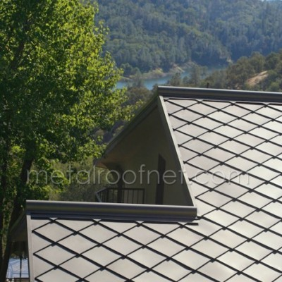 Finished Steel Diamond Shingles By Metal Roof Network