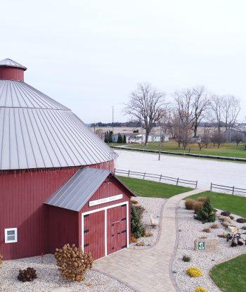 Slate Gray Round Barn